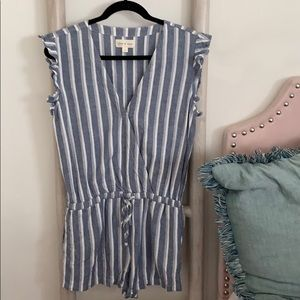 Cloth and Stone Anthro Striped Romper Sz S